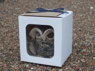 Present Little owl - candlestick