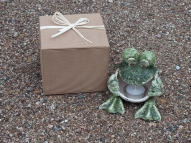 Present - frog candlestick